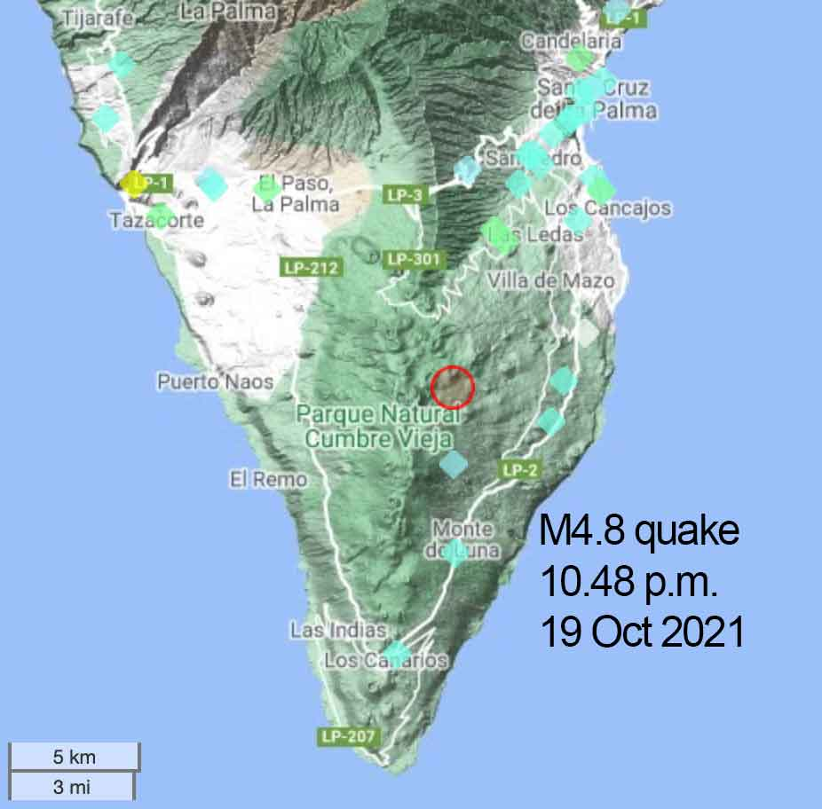 Largest so far quake at magnitude 4.8 / VolcanoDiscovery